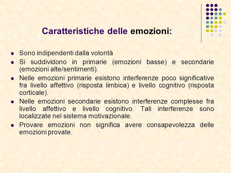 Caratteristiche delle emozioni: