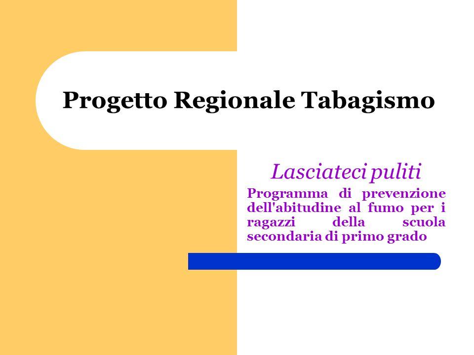 Progetto Regionale Tabagismo