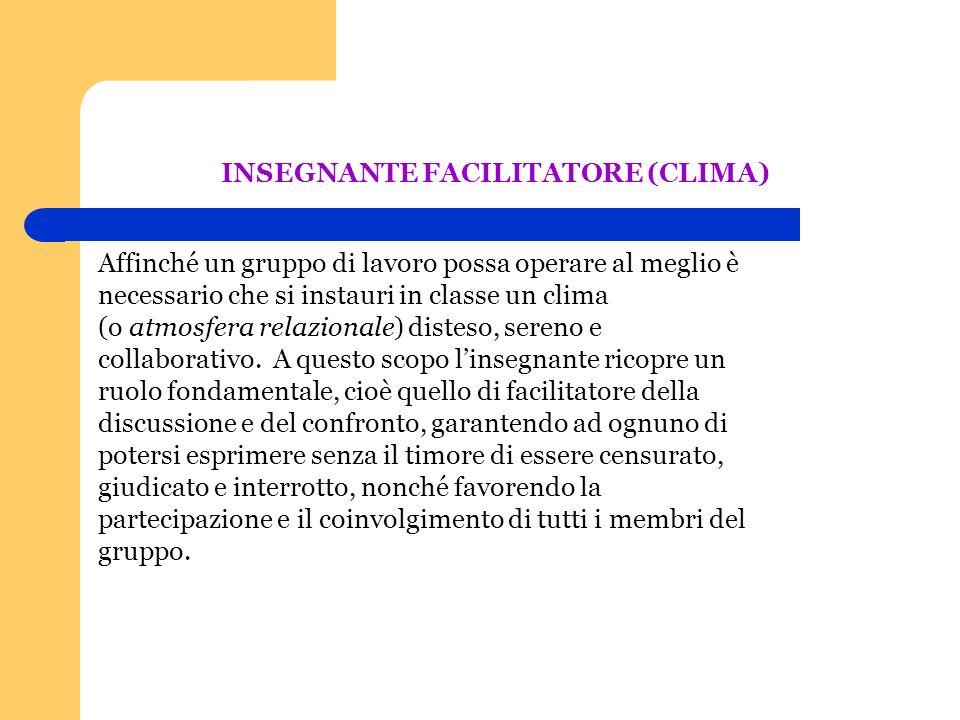 INSEGNANTE FACILITATORE (CLIMA)