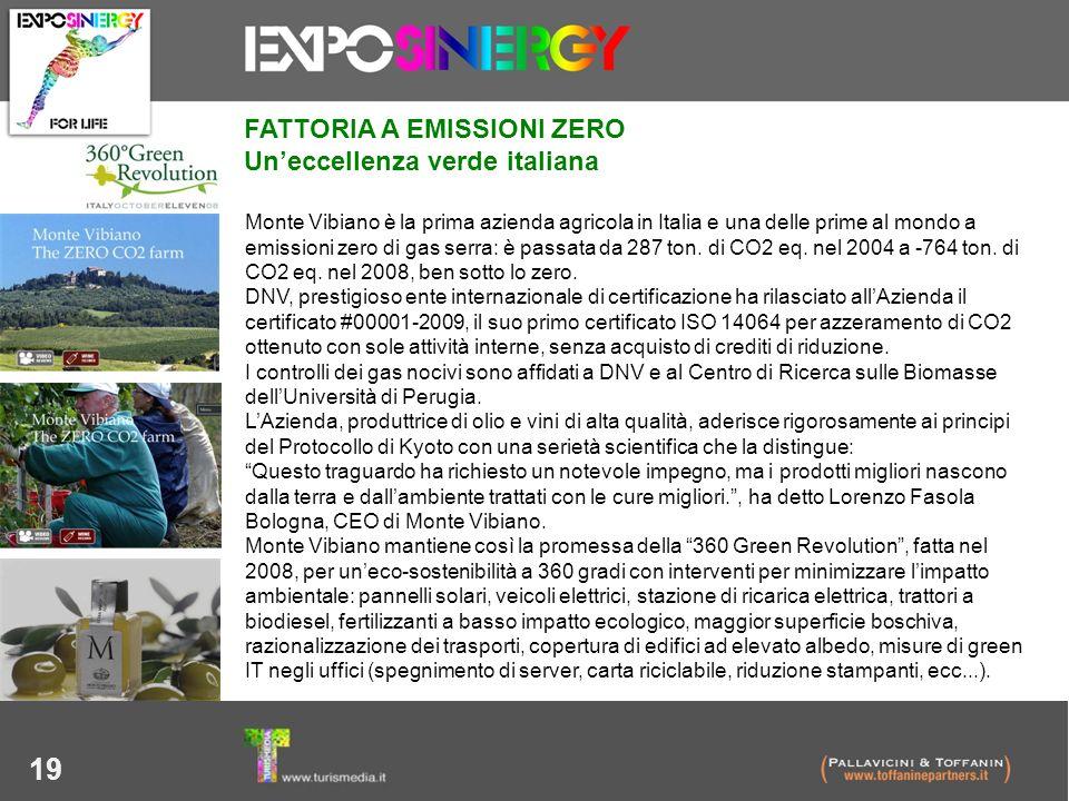 FATTORIA A EMISSIONI ZERO Un'eccellenza verde italiana