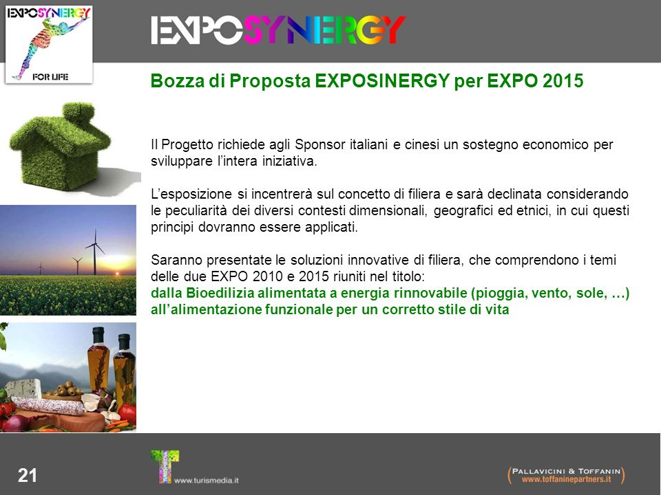 Bozza di Proposta EXPOSINERGY per EXPO 2015