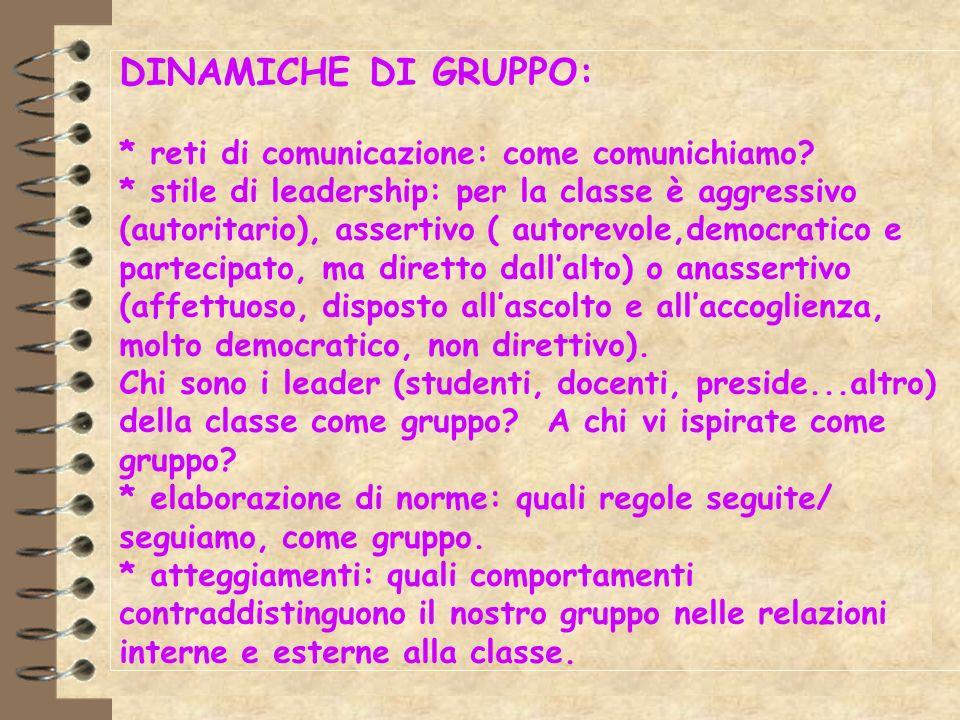 DINAMICHE DI GRUPPO:. reti di comunicazione: come comunichiamo