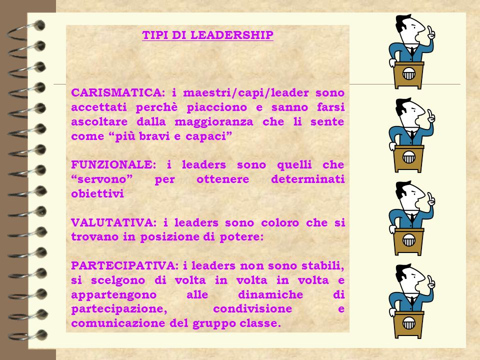 TIPI DI LEADERSHIP
