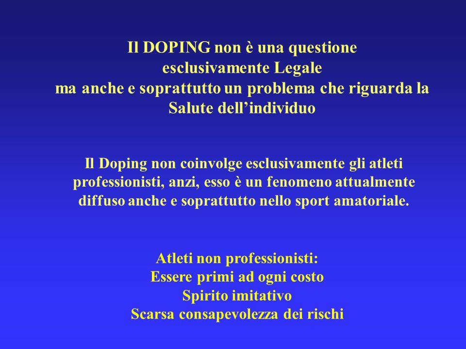 Il DOPING non è una questione esclusivamente Legale