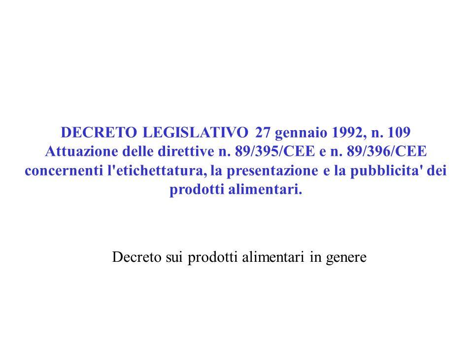 DECRETO LEGISLATIVO 27 gennaio 1992, n