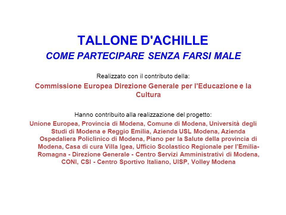 TALLONE D ACHILLE COME PARTECIPARE SENZA FARSI MALE