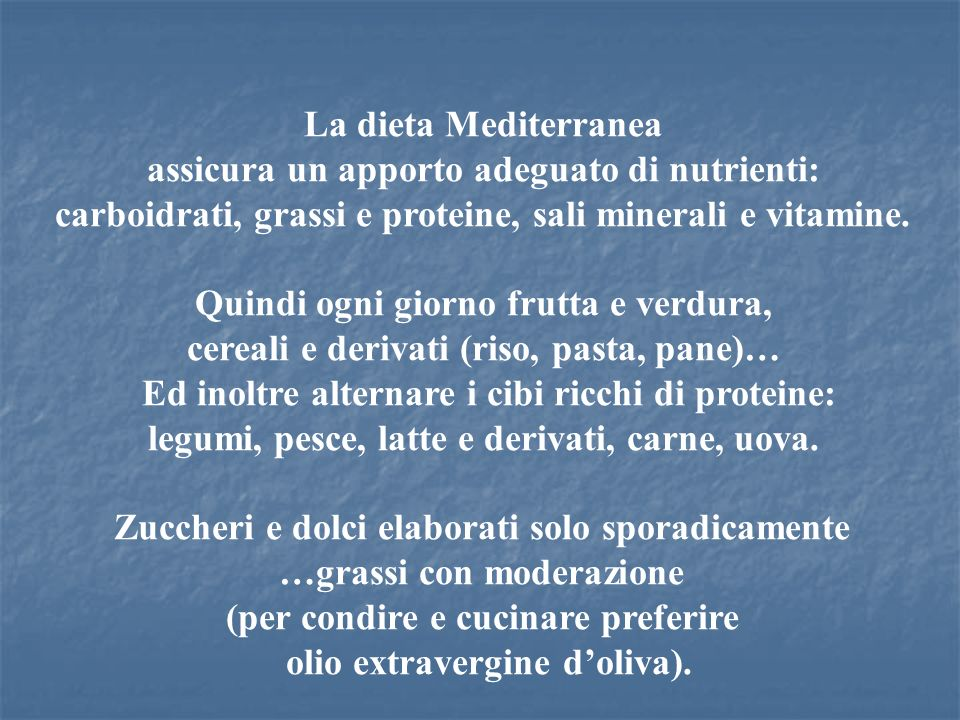 assicura un apporto adeguato di nutrienti: