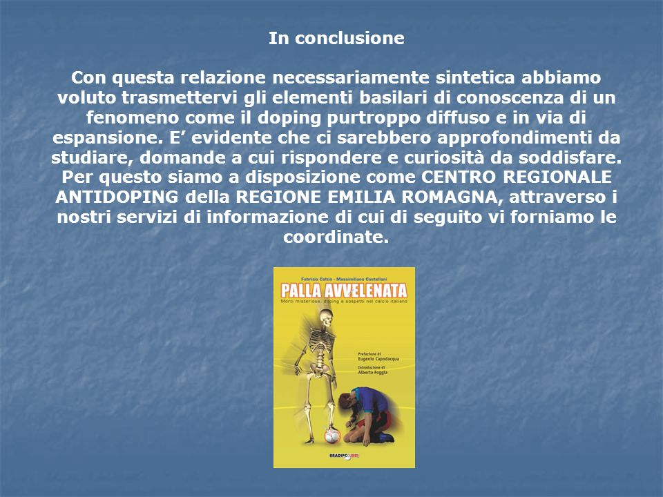 In conclusione