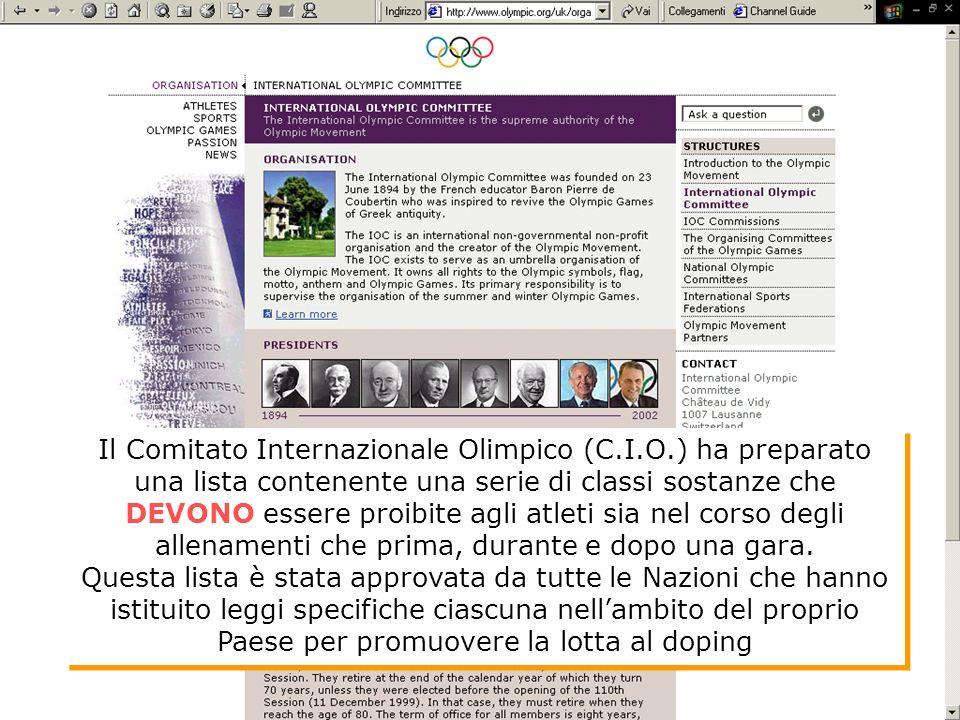 Il Comitato Internazionale Olimpico (C. I. O