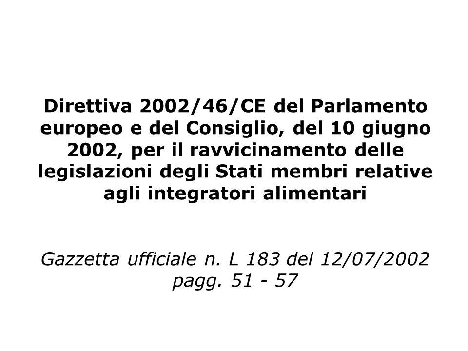 Gazzetta ufficiale n. L 183 del 12/07/2002 pagg. 51 - 57