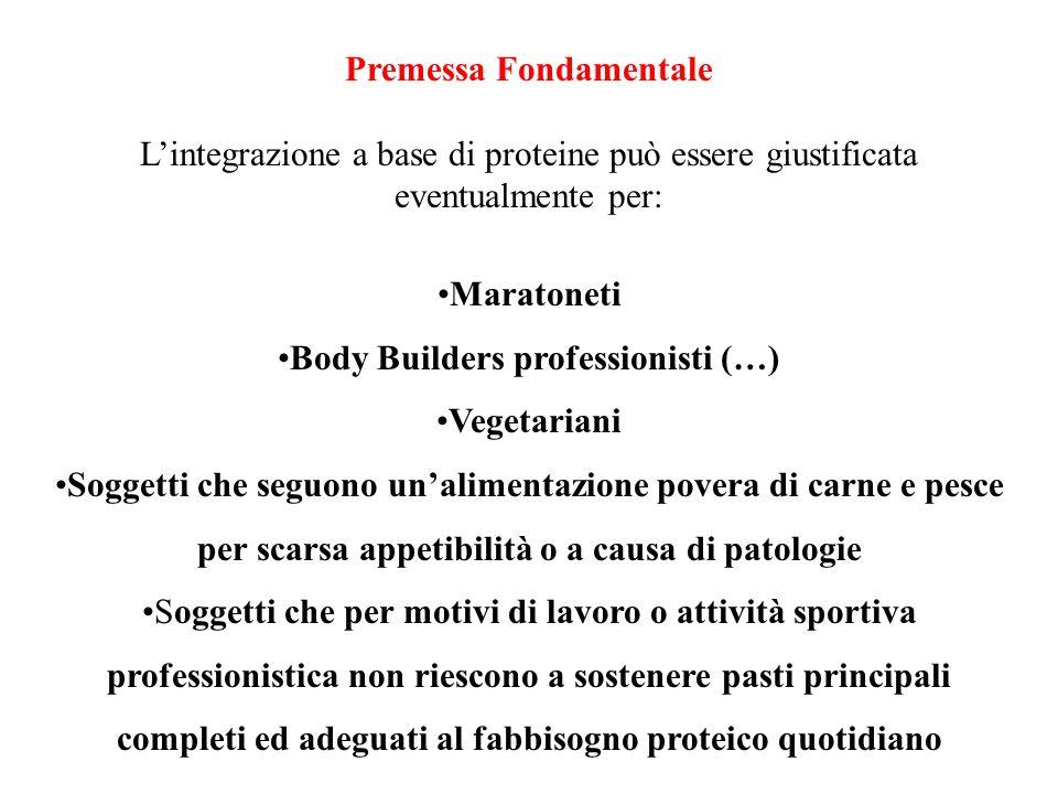 Premessa Fondamentale Body Builders professionisti (…)