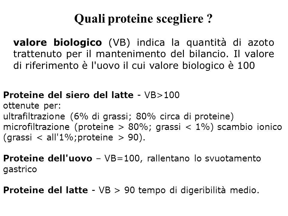 Quali proteine scegliere