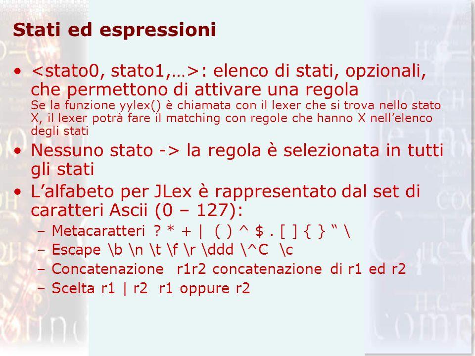 Stati ed espressioni