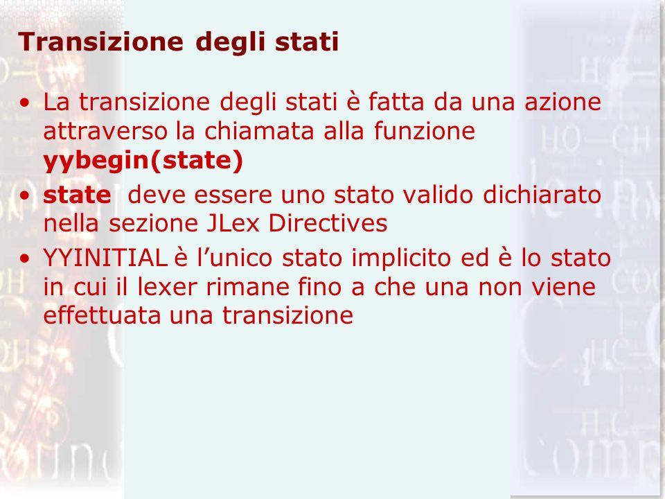 Transizione degli stati