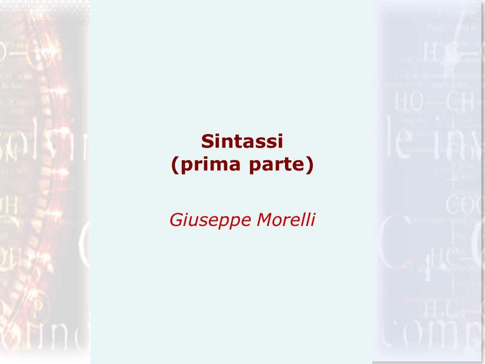 Sintassi (prima parte)