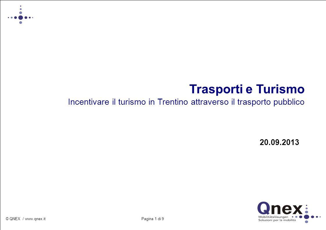 Trasporti e Turismo Incentivare il turismo in Trentino attraverso il trasporto pubblico. 20.09.2013.