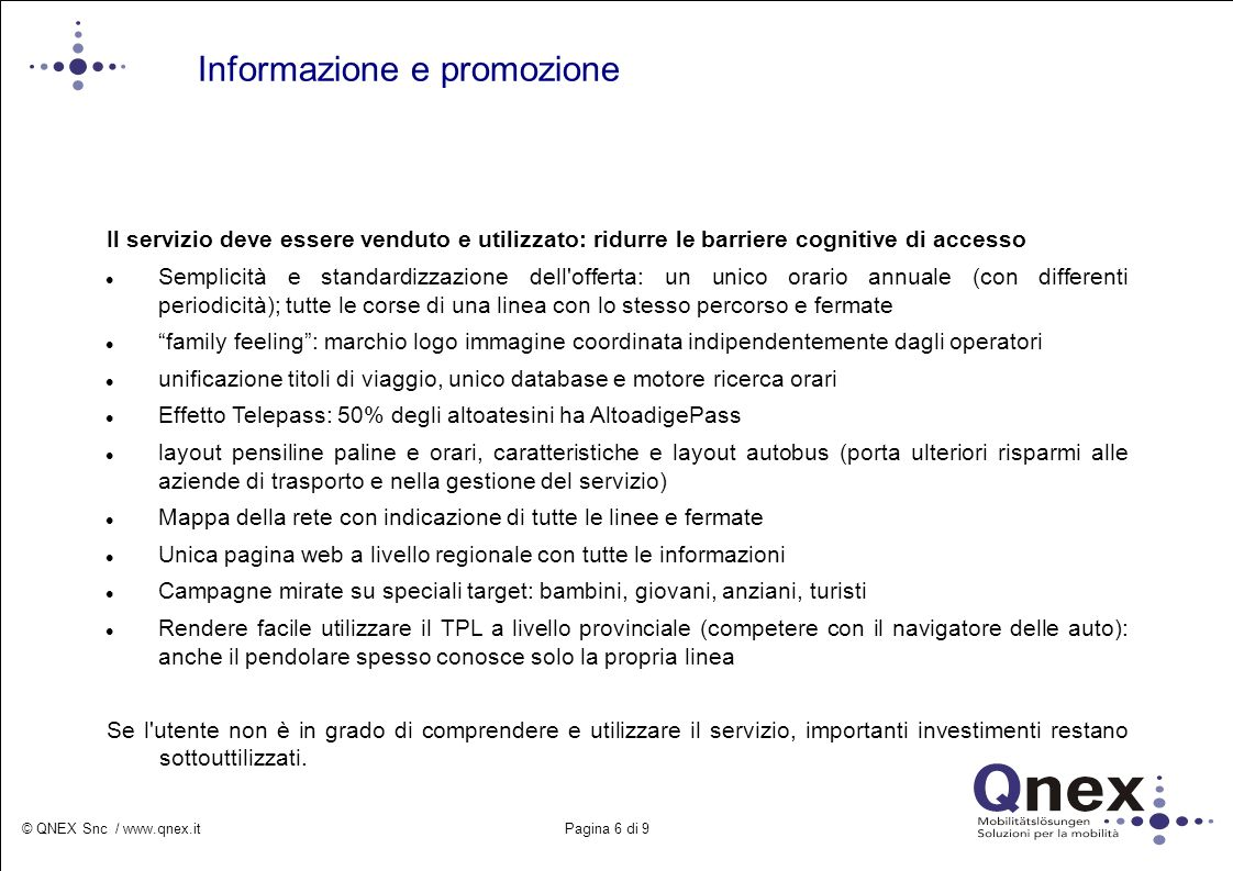 Informazione e promozione