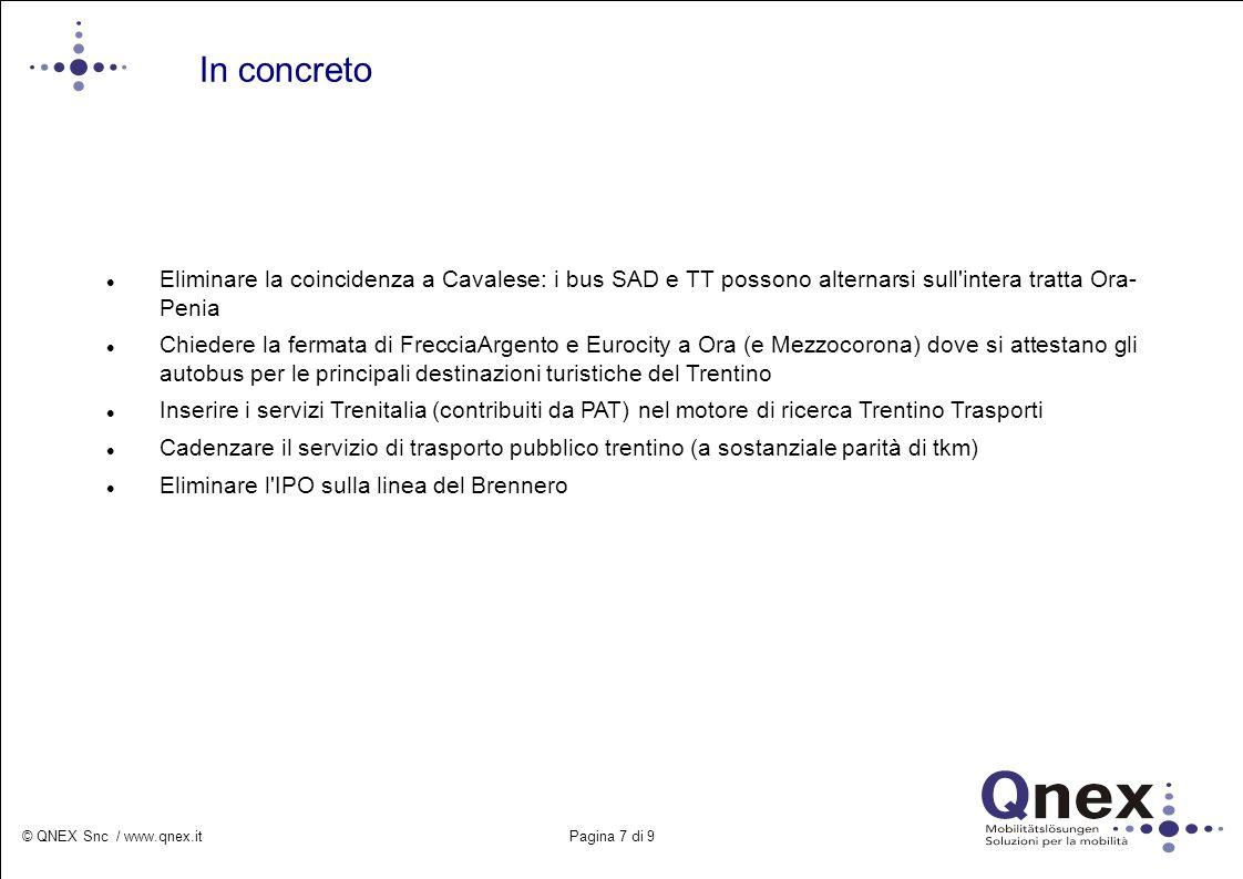 In concreto Eliminare la coincidenza a Cavalese: i bus SAD e TT possono alternarsi sull intera tratta Ora- Penia.
