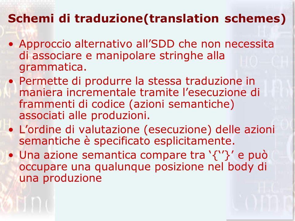 Schemi di traduzione(translation schemes)