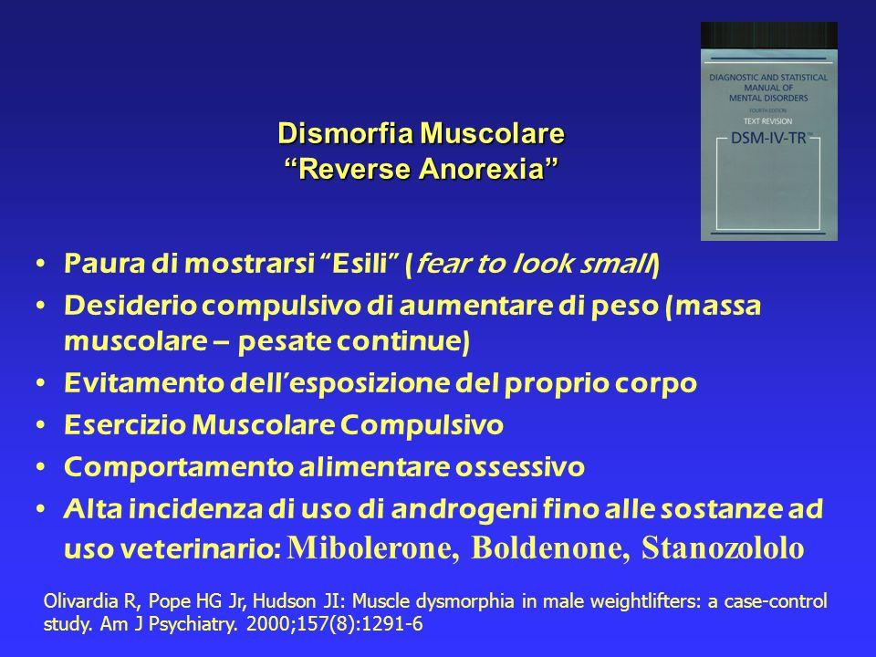 Dismorfia Muscolare Reverse Anorexia