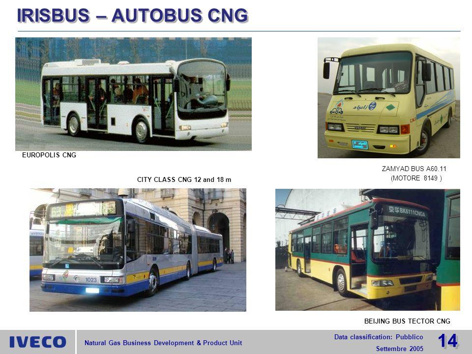 IRISBUS – AUTOBUS CNG EUROPOLIS CNG ZAMYAD BUS A60.11 (MOTORE 8149 )