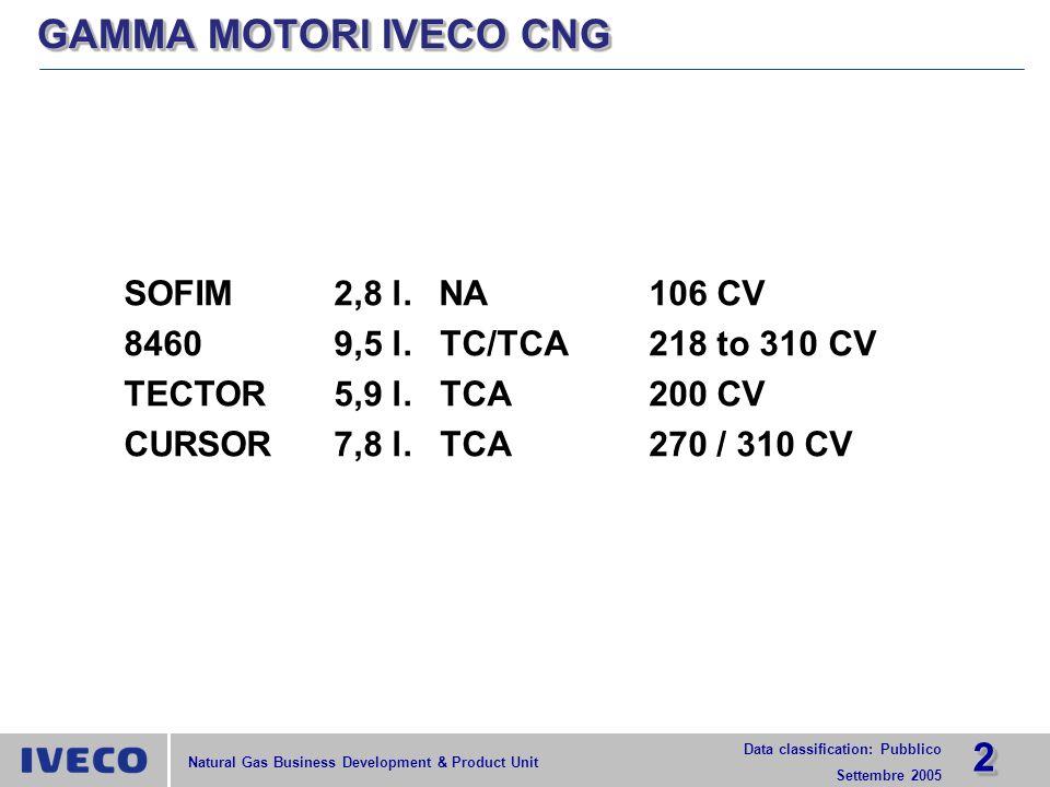 GAMMA MOTORI IVECO CNG SOFIM 2,8 l. NA 106 CV