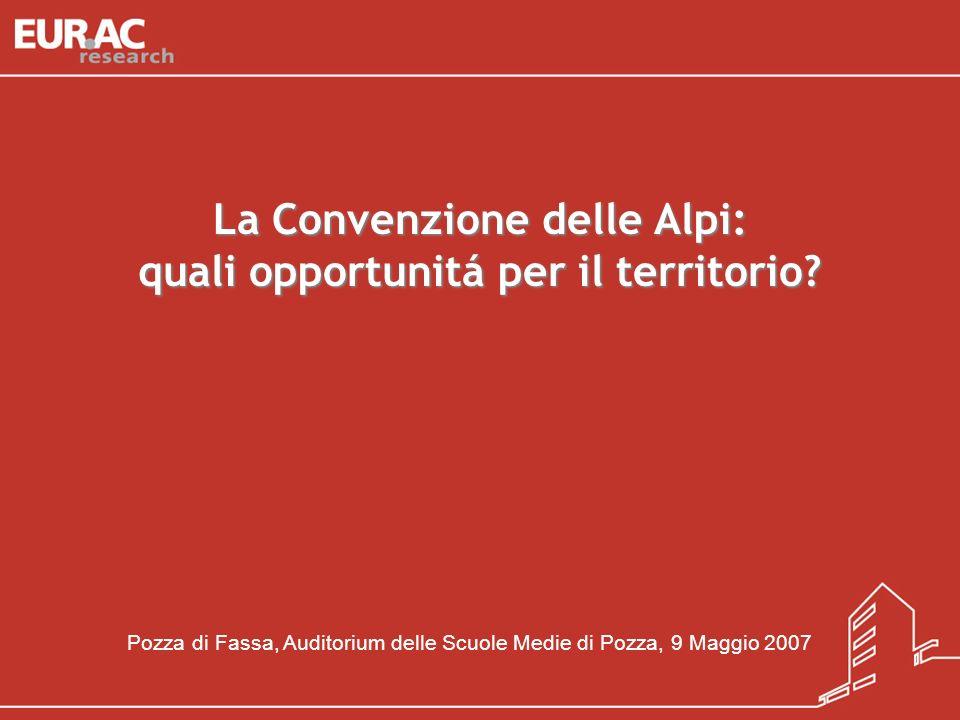 La Convenzione delle Alpi: quali opportunitá per il territorio
