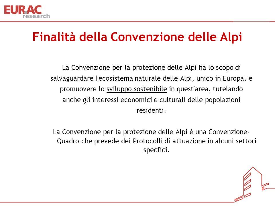 Finalità della Convenzione delle Alpi