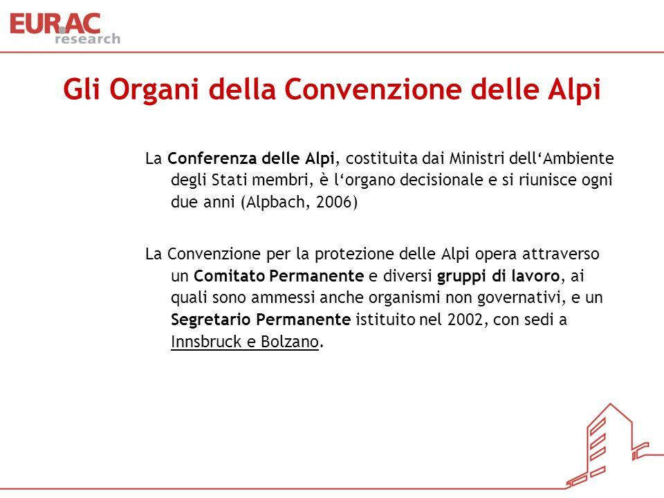 Gli Organi della Convenzione delle Alpi