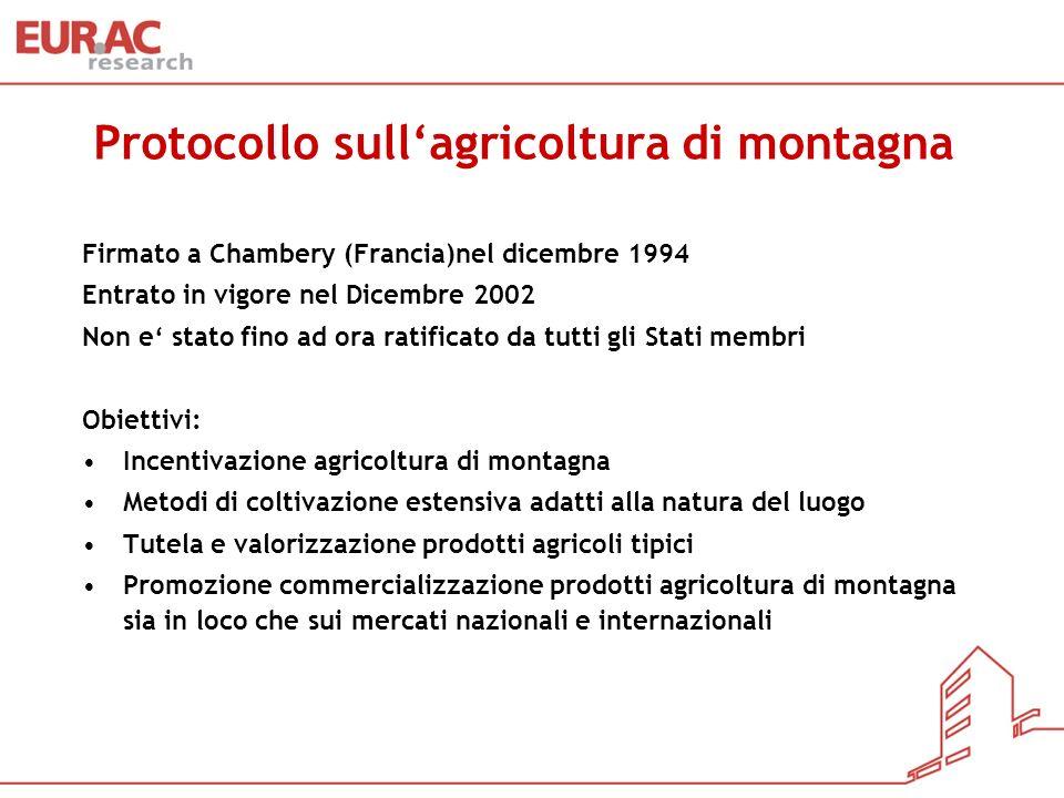 Protocollo sull'agricoltura di montagna