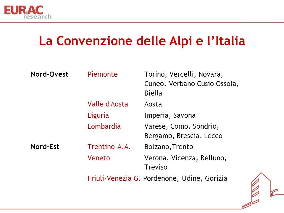 La Convenzione delle Alpi e l'Italia