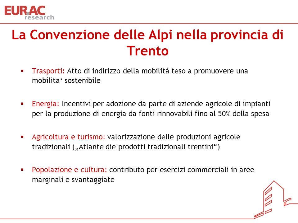 La Convenzione delle Alpi nella provincia di Trento