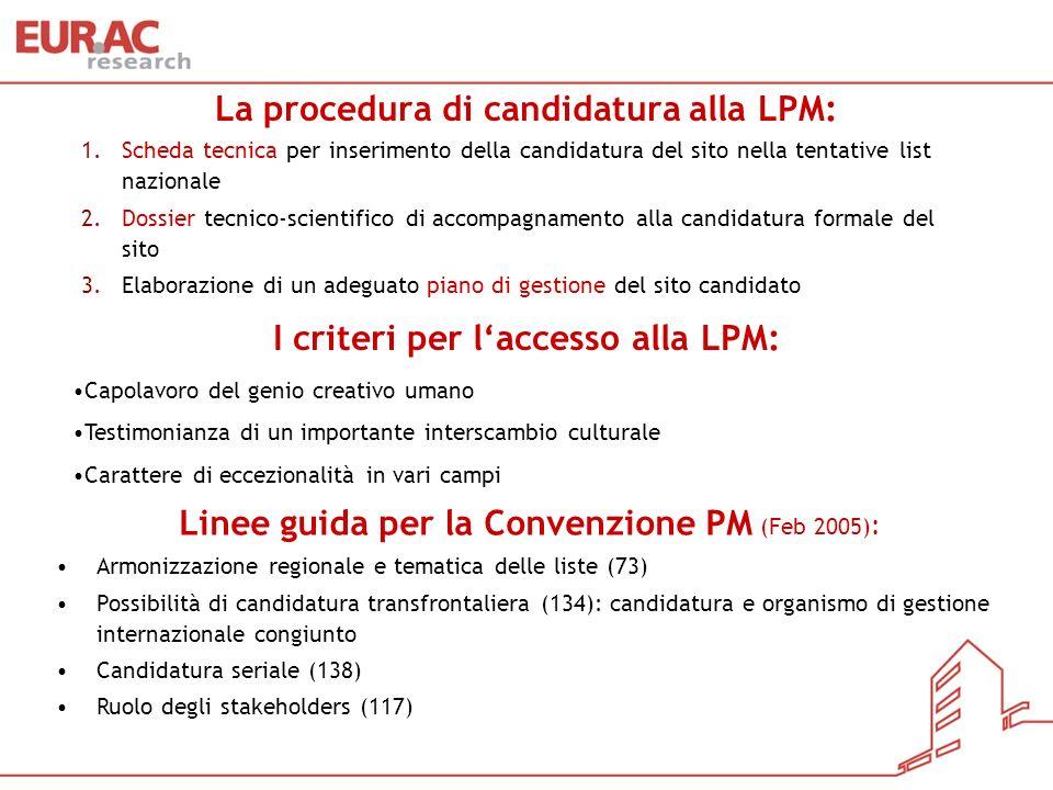 La procedura di candidatura alla LPM: