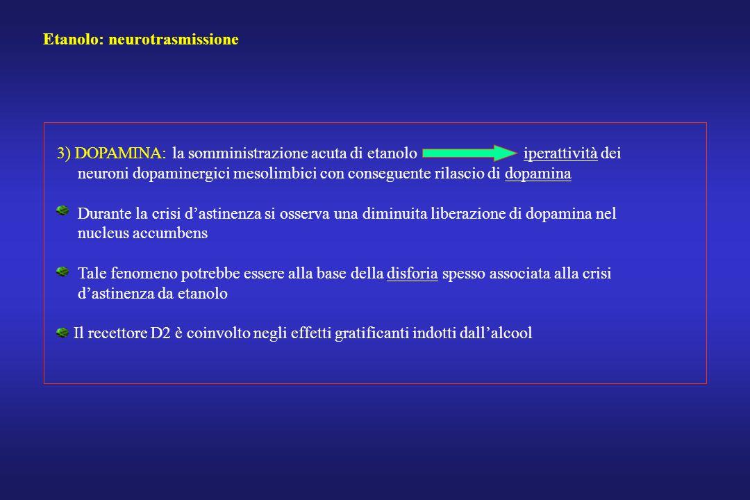 Etanolo: neurotrasmissione