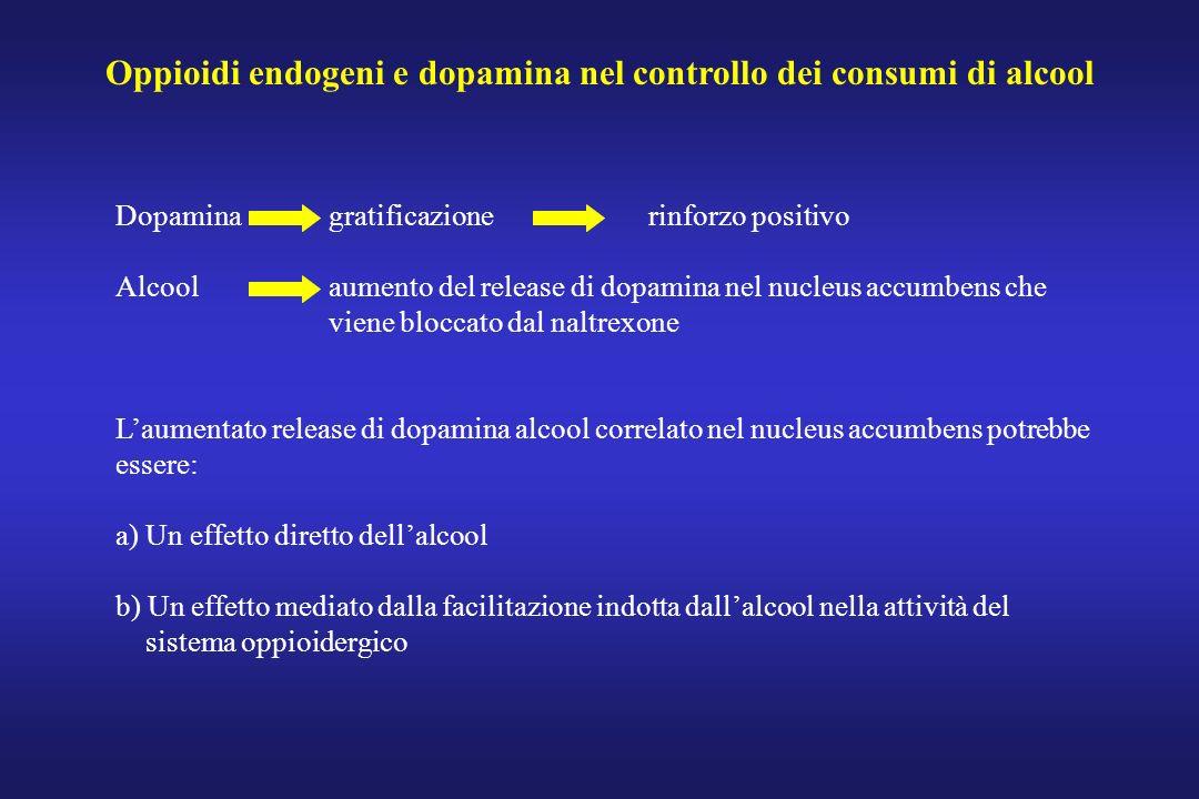 Oppioidi endogeni e dopamina nel controllo dei consumi di alcool