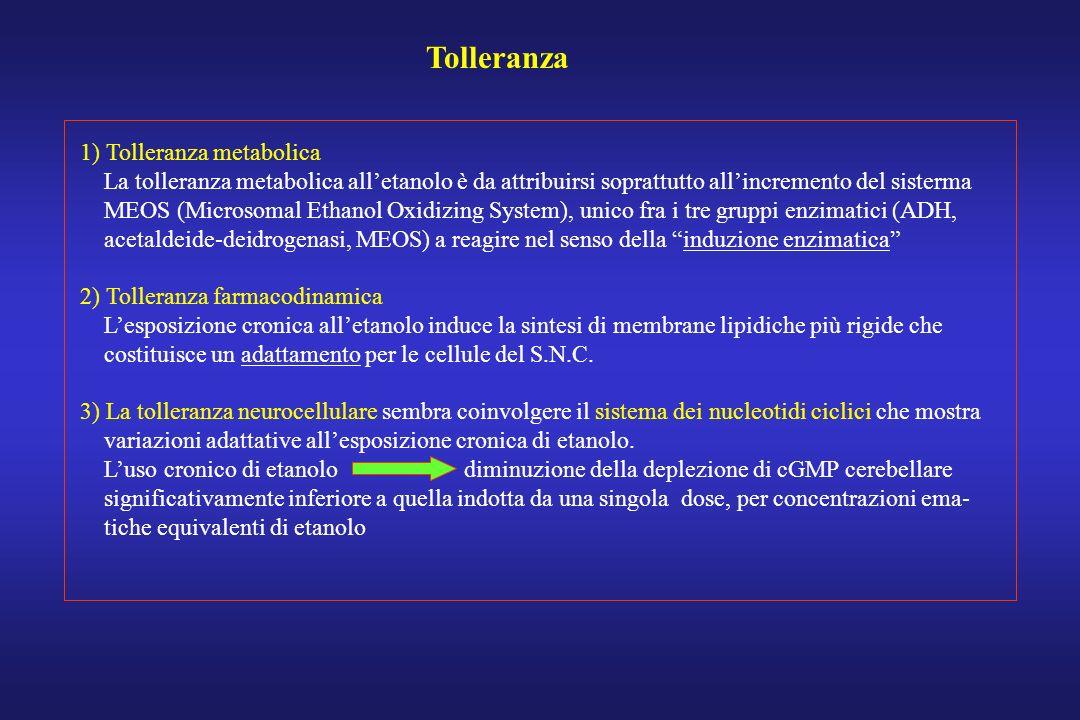Tolleranza 1) Tolleranza metabolica