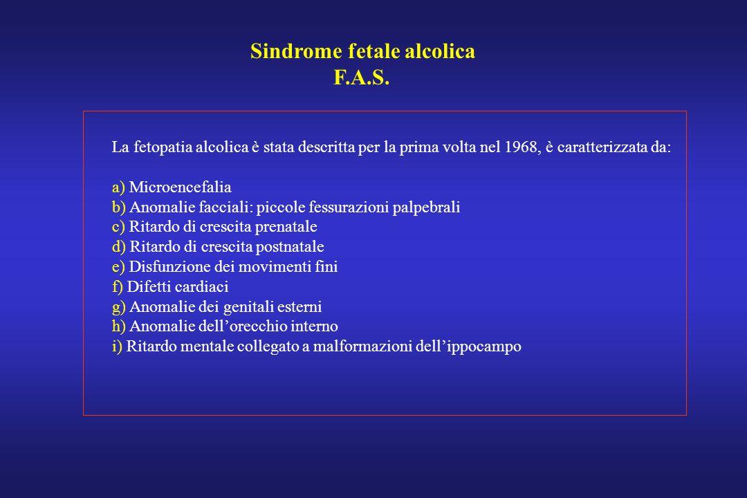 Sindrome fetale alcolica F.A.S.