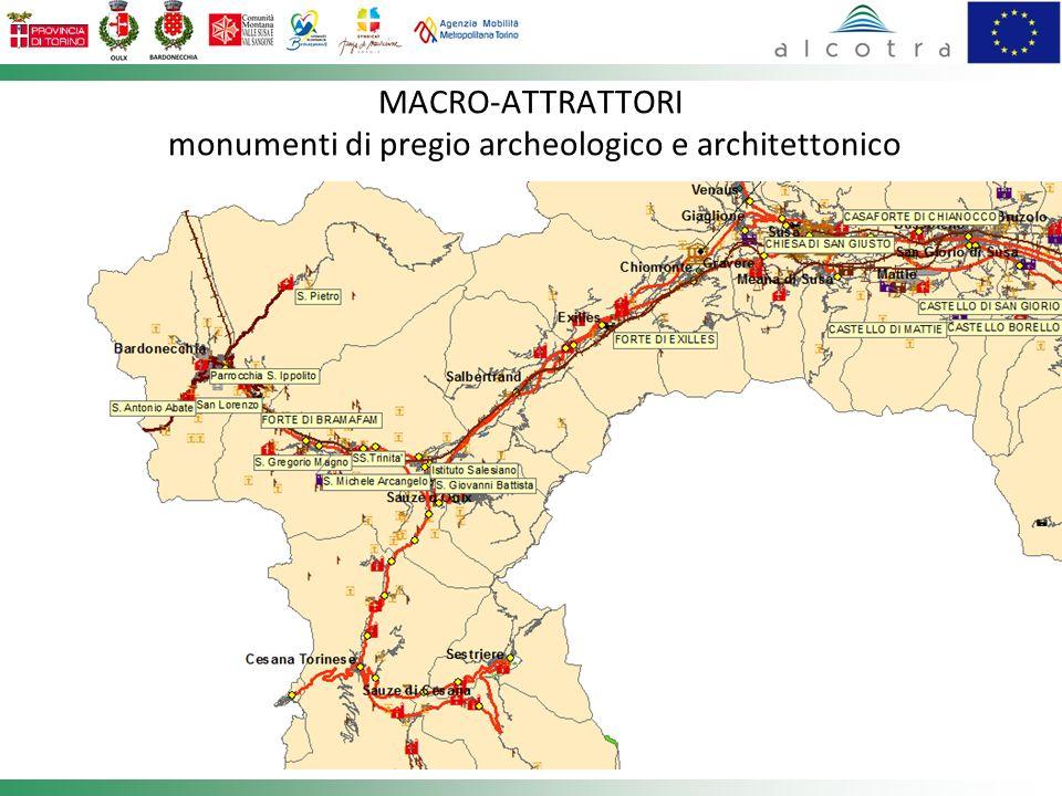 MACRO-ATTRATTORI monumenti di pregio archeologico e architettonico