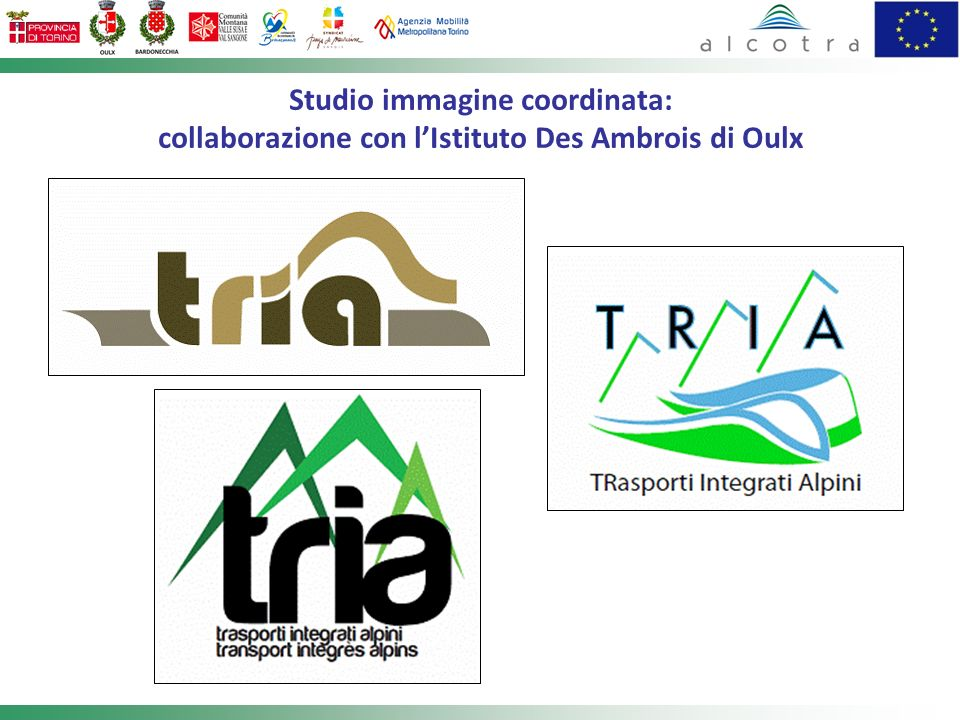 Studio immagine coordinata: collaborazione con l'Istituto Des Ambrois di Oulx