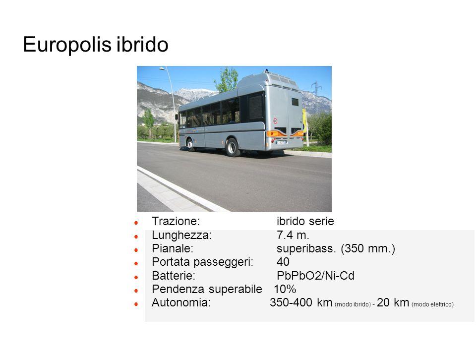 Europolis ibrido Trazione: ibrido serie Lunghezza: 7.4 m.