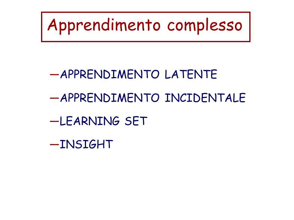 Apprendimento complesso