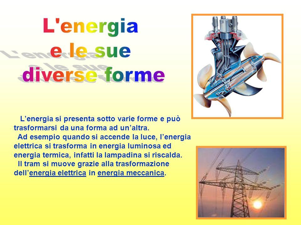 L energia e le sue diverse forme