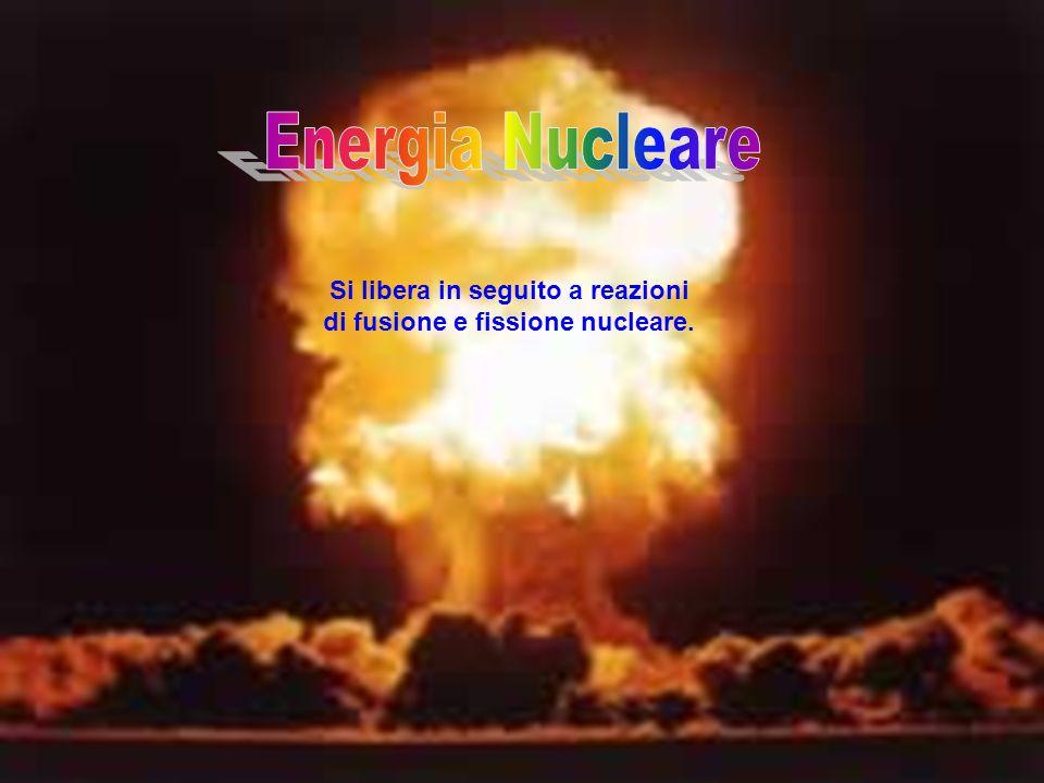 Si libera in seguito a reazioni di fusione e fissione nucleare.
