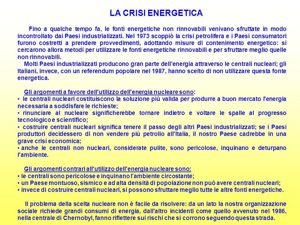 LA CRISI ENERGETICA