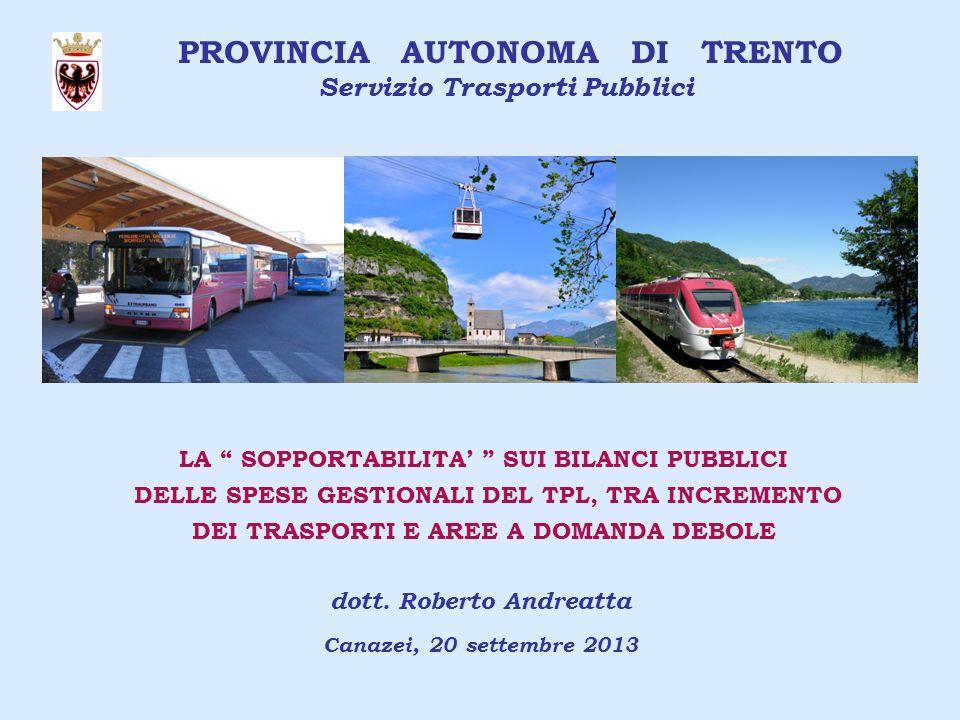 Servizio Trasporti Pubblici dott. Roberto Andreatta