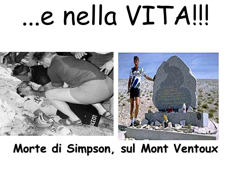 Morte di Simpson, sul Mont Ventoux