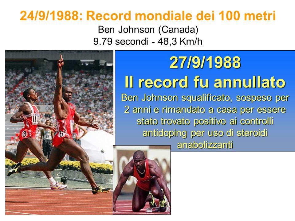 24/9/1988: Record mondiale dei 100 metri