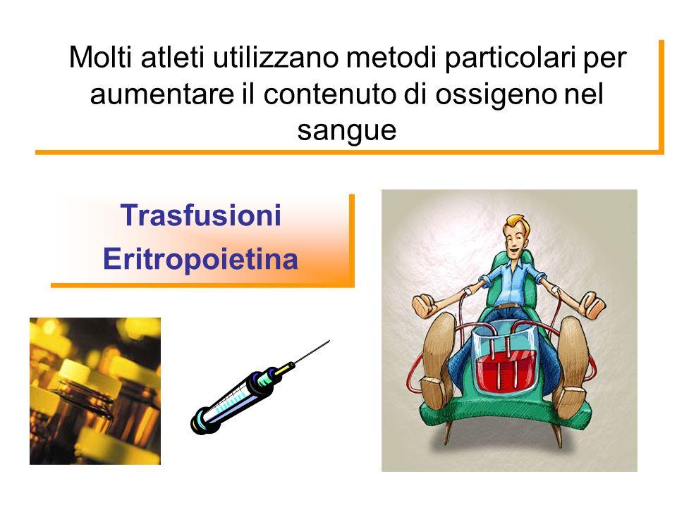 Molti atleti utilizzano metodi particolari per aumentare il contenuto di ossigeno nel sangue