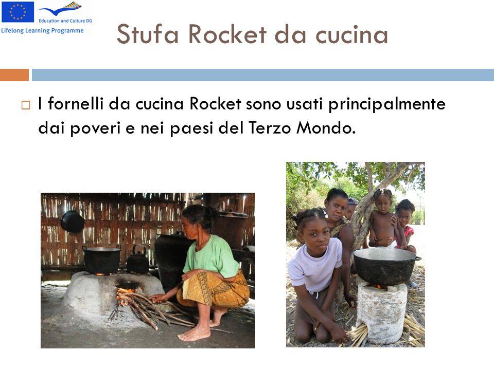 Stufa Rocket da cucina I fornelli da cucina Rocket sono usati principalmente dai poveri e nei paesi del Terzo Mondo.