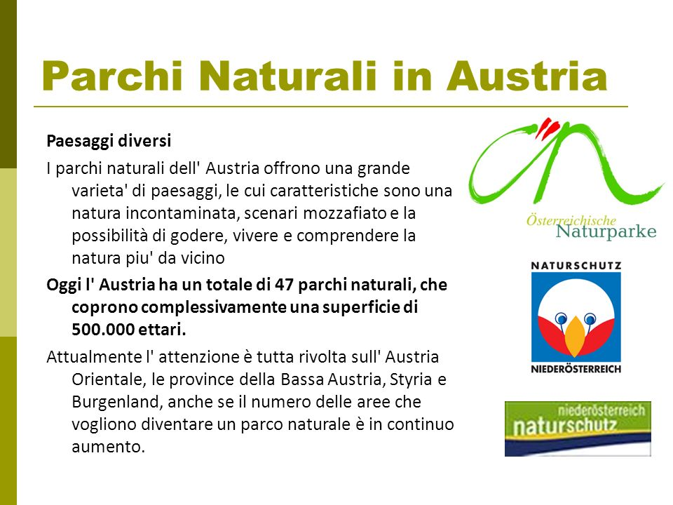 Parchi Naturali in Austria